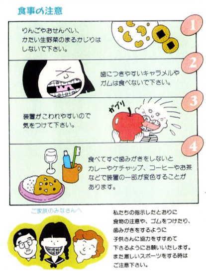食事の注意